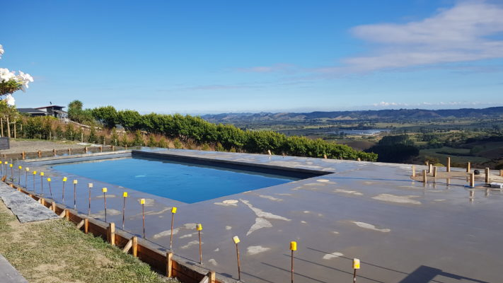 Concrete Pool With Nature View